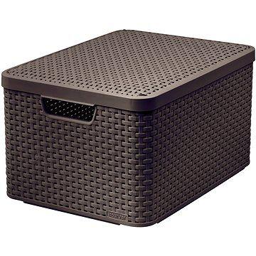 Curver STYLE BOX s víkem L, 03619-210 – hnědý