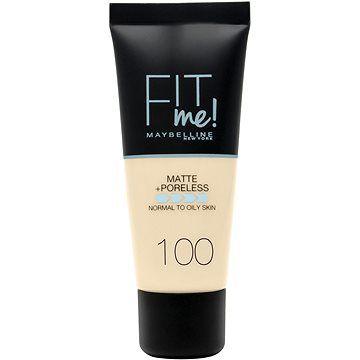 MAYBELLINE NEW YORK Fit Me! Matte & Poreless Make up 100 Warm Ivory 30 ml