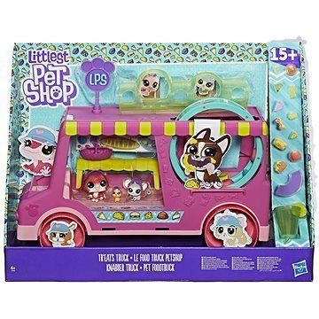 Hasbro Littlest Pet Shop Cukrářský vůz s 3 zvířátky