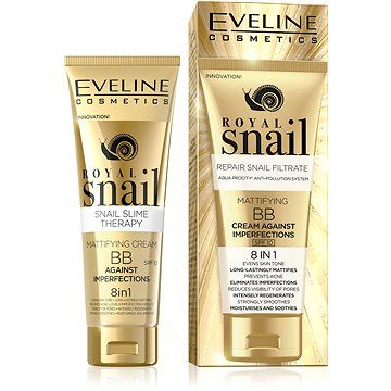 EVELINE COSMETICS EVELINE Royal Snail Mattifying BB Cream Against Imperfections 8in1 50 ml