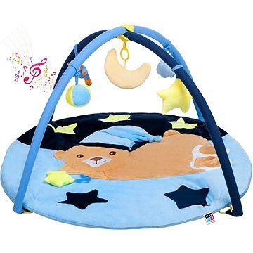 PlayTo Hrací deka s melodií PlayTo spící medvídek modrá