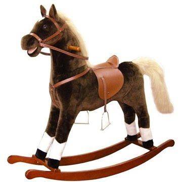 Bino Velký plyšový houpací kůň - hnědý cena od 2099 Kč