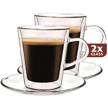 Maxxo Termo skleničky DF909 s podšálkem 2ks 220ml