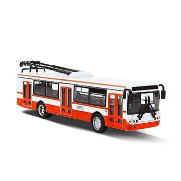 Rappa Kovový Trolejbus červený