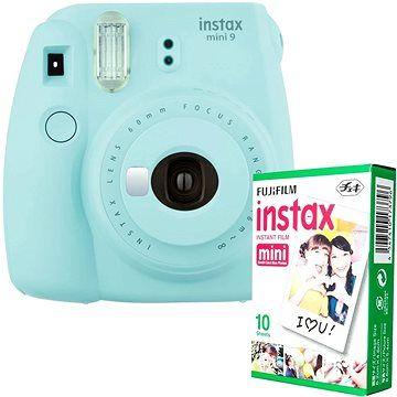 Fujifilm Instax Mini 9 světle modrý + 10x fotopapír cena od 2299 Kč