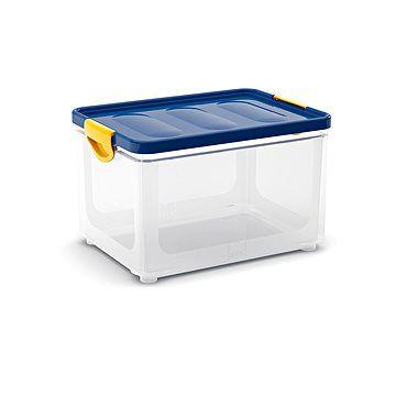 KIS Clipper Box L průhledny-modré víko 33l
