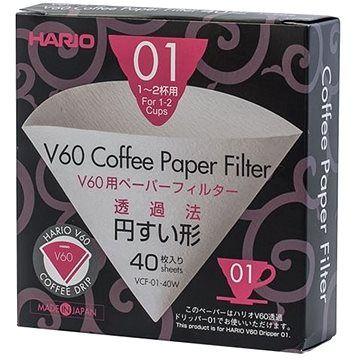 Hario papírové filtry V60 – 01 40ks