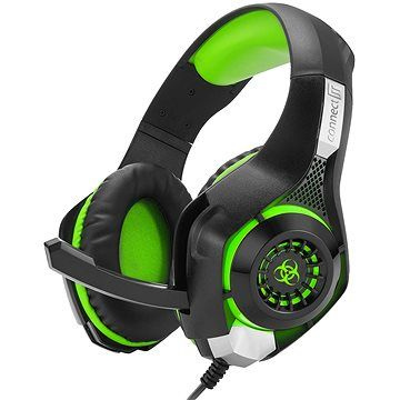 CONNECT IT CHP-4510-GR Gaming Headset BIOHAZARD zelená