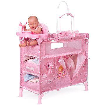 DeCuevas Toys Skládací postýlka pro panenky s 5 funkčními doplňky Maria 2018 cena od 0 Kč