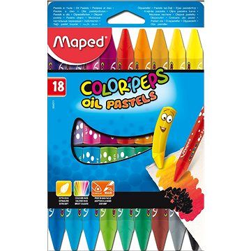 Maped Color Peps Oil Pastels, 18 barev