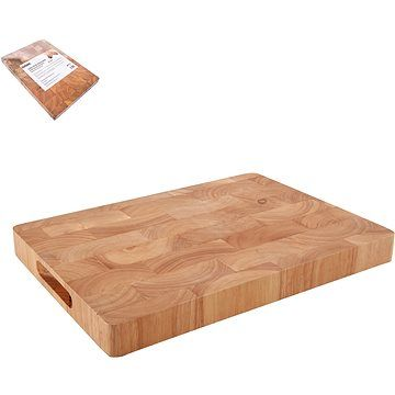 ORION Krájecí deska gumovníkové dřevo 35x25x3,3 cm