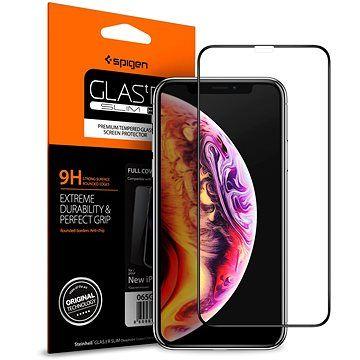Spigen Glass FC HD Black iPhone XS/X