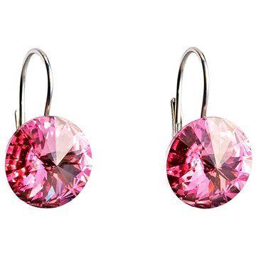 EVOLUTION GROUP 31106.3 růžová náušnice dekorované krystaly Swarovski® (925/1000, 2 g)