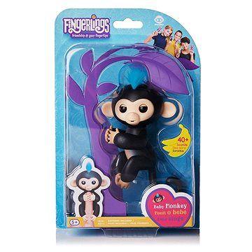 WOWWEE Fingerlings - Opička Finn, černá
