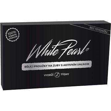 WHITE PEARL Bělicí proužky Charcoal 28 ks