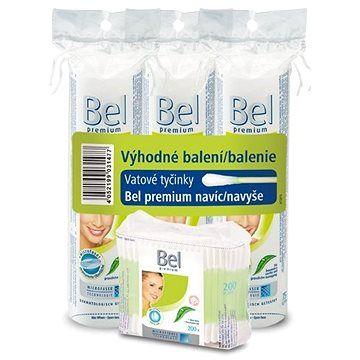 BEL Premium vatové tyčinky 200 ks + BEL Premium podušky kulaté 3 x 75 ks