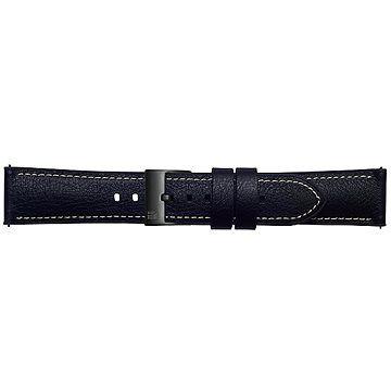 Samsung Galaxy Watch Braloba strap Rubber/Leather 22mm - Urban Traveller Černá