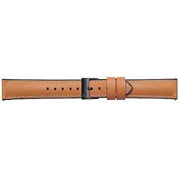Samsung Galaxy Watch Braloba strap Rubber/Leather 20mm - Urban Traveller Tan