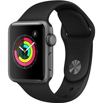 Apple Watch Series 3 38mm GPS Vesmírně šedý hliník s černým sportovním řemínkem