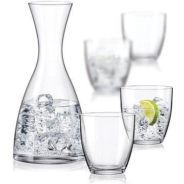 BOHEMIA CRYSTAL Crystalex WATER SET karafa a sklenice na vodu 5ks