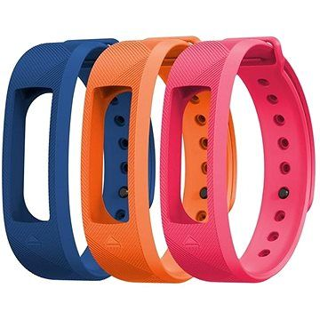 EVOLVEO FitBand B2 náramek modrý + oranžový + růžový