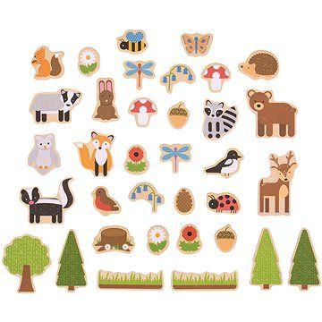 Bigjigs Toys Magnetky Lesní zvířátka