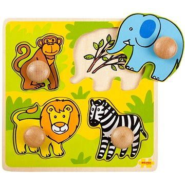 Bigjigs Dřevěné vkládací puzzle - Safari