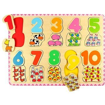 Bigjigs Dřevěné počítací puzzle II