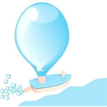 Bigjigs Dřevěná loďka na balónkový pohon