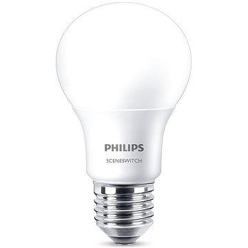 Philips LED SceneSwitch 60W, E27, 2700-2500-2200K, matná