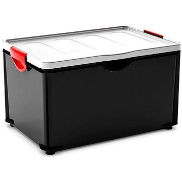 KIS Clipper Box XL černý-šedé víko 60l
