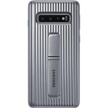 Samsung Galaxy S10 Protective Standing Cover stříbrný
