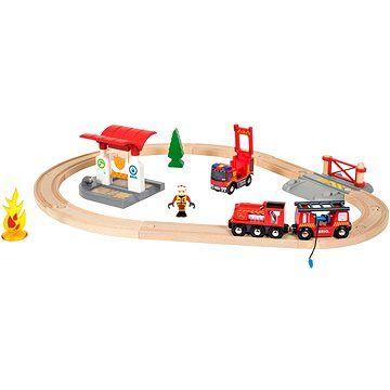 Brio World 33815 Vláčkodráha s hasičskou stanicí