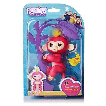 WOWWEE Fingerlings - Opička Bella, růžová