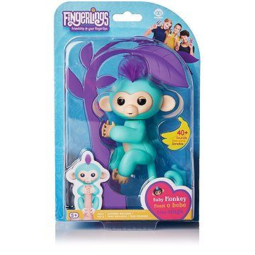 WOWWEE Fingerlings - Opička Zoe, tyrkysová cena od 399 Kč
