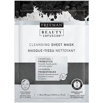 FREEMAN Beauty Infusion Čisticí látková maska dřevěné uhlí + probiotika 25 ml