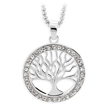 JSB Bijoux Náhrdelník Strom života s křišťálovými kameny Swarovski®
