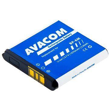 AVACOM pro Nokia 6233, 9300, N73 Li-Ion 3,7V 1070mAh (náhrada BP-6M)