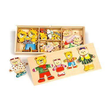 Bigjigs Dřevěné figurky - Medvědí rodinka