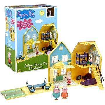 TM Toys Prasátko Peppa - domeček de Lux + 4 figurky a příslušenství