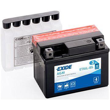 EXIDE ETX4L-BS, 12V, 4Ah, 50A
