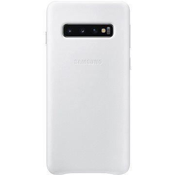 Samsung Galaxy S10 Leather Cover bílý