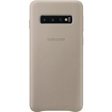 Samsung Galaxy S10 Leather Cover šedý