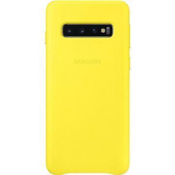 Samsung Galaxy S10 Leather Cover žlutý