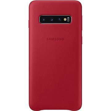 Samsung Galaxy S10 Leather Cover červený