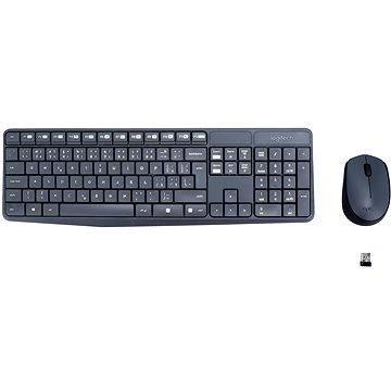 Logitech Wireless Combo MK235 CZ šedý
