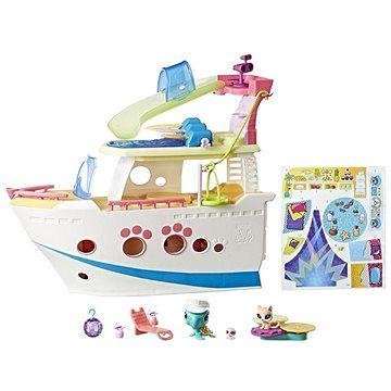 Hasbro Littlest Pet Shop Výletní loď se 3 zvířátky
