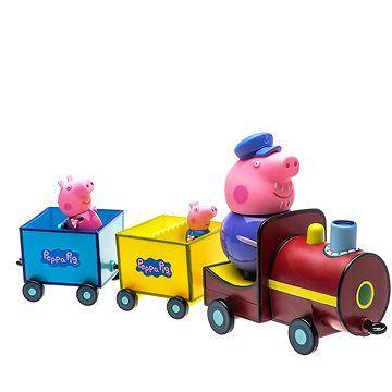 TM Toys Prasátko Peppa - Vláček + 3 figurky
