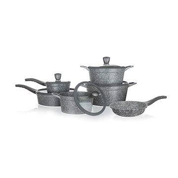 BANQUET Sada nádobí s nepřilnavým povrchem GRANITE, 11 ks cena od 3499 Kč