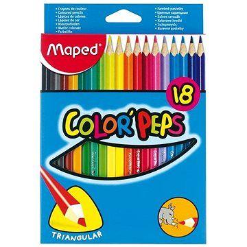 Maped Color Peps 18 barev trojhranné